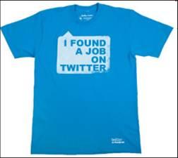 twitter I found a job tshirt pic