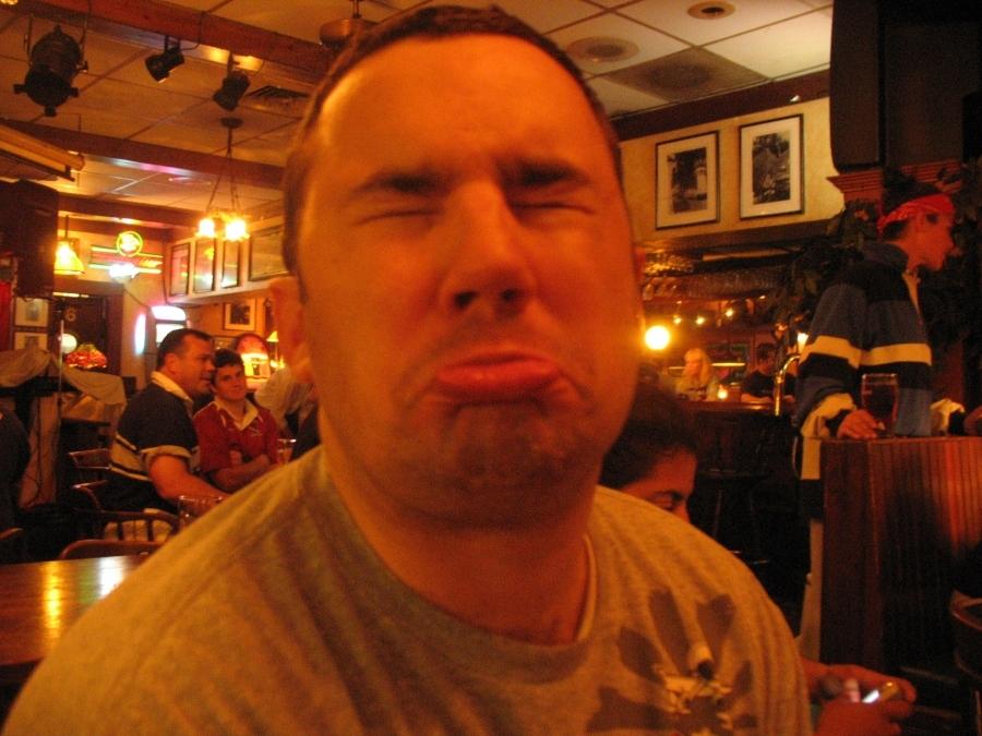 Matt's pouty face.