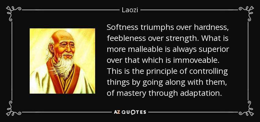 Image result for lao tzu softness triumphs
