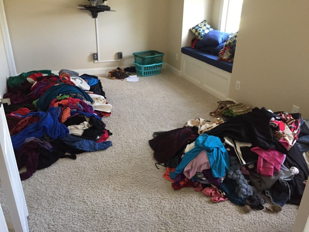 Image result for two piles of clothes