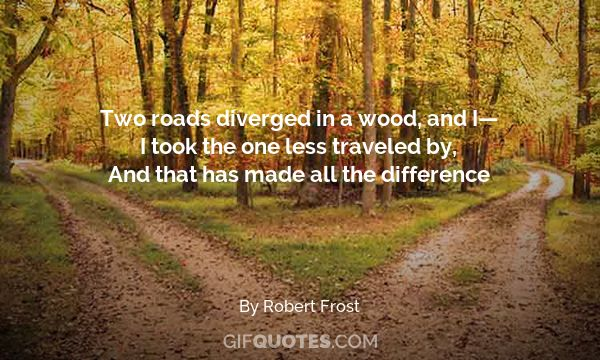 Image result for two roads diverged